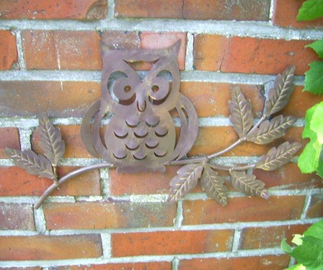 Wanddekoration Garten wanddekoration eule beekmann s interieur accessoires