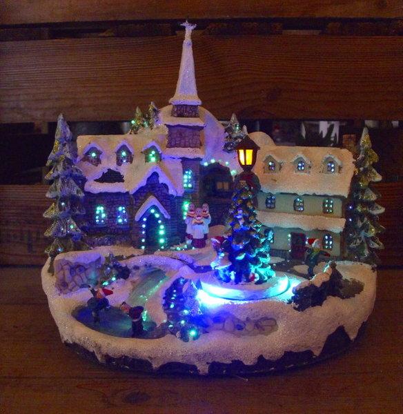 Weihnachtsdeko Beleuchtet.Winter Weihnachtsdeko Winterdorf Weihnachtsdorf