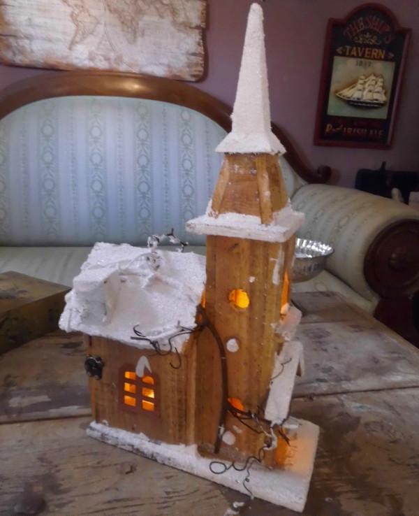 Bauernsilber Weihnachtsdeko.Winter Weihnachtsdeko Kirche