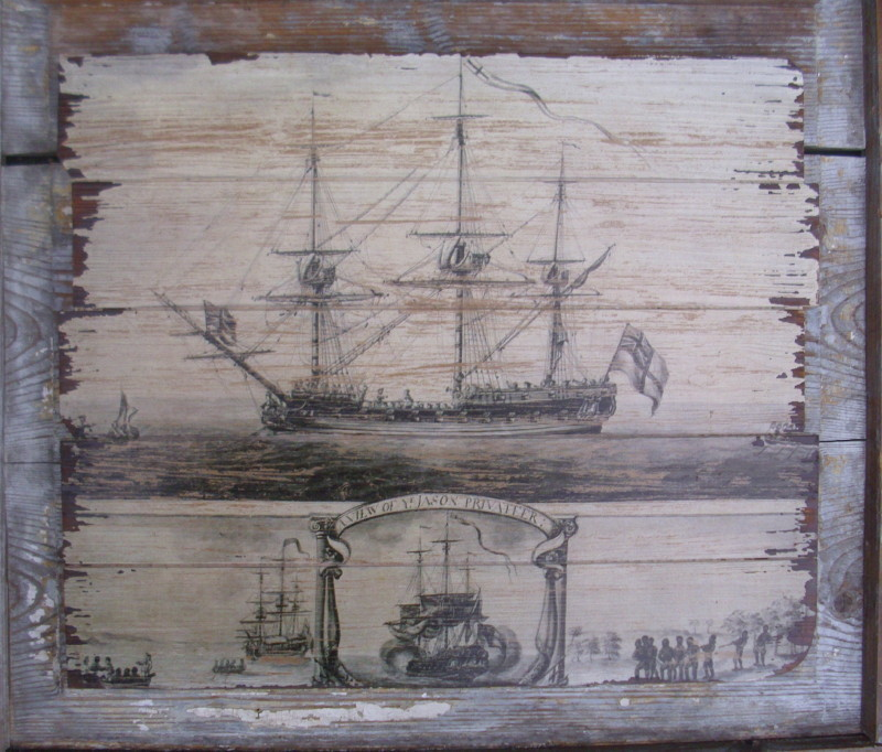 Holz Wanddeko SEGELSCHIFF
