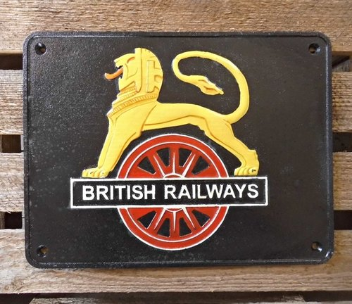 Gusseisen Schild BRITISH RAILWAYS