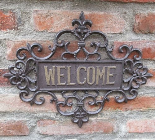 Gusseisen Schild WELCOME