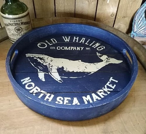 Tablett OLD WHALING COMPANY Wal
